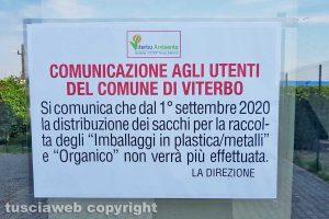 Il cartello di Viterbo ambiente