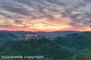 Viterbo - Tramonto su Roccalvecce