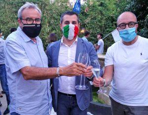 Civita Castellana - Luca Giampieri sindaco - Brindisi con Massimo Giampieri e Mauro Rotelli