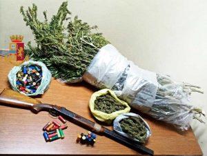 Acerra - 51enne arrestato per detenzione di arma da sparo e produzione di sostanza stupefacente