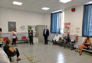 Acquapendente - Gli assessori regionali D'Amato e Troncarelli in visita all'ospedale