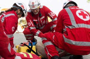 Croce rossa in azione