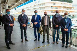 La nave AIDAblu di Costa crociere torna a viaggiare
