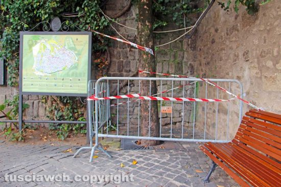 Viterbo - Piazza San Carluccio messa in sicurezza