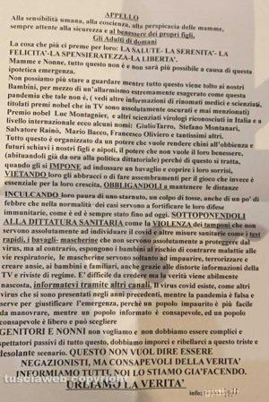 Covid, volantini negazionisti distribuiti a Viterbo