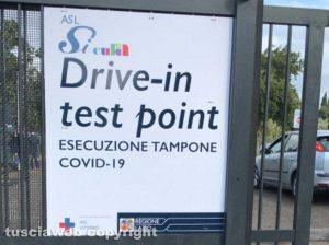 Coronavirus, operativo il nuovo drive-in al Riello