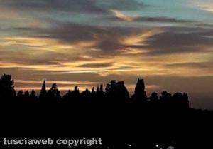 Pennellate di colore al tramonto...