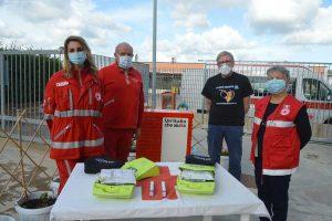 Volontari di World medical aid e del comitato di Tarquinia della Cri