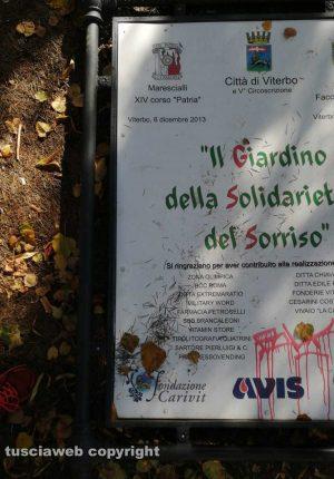 Viterbo - Vandali in azione a via Cattaneo
