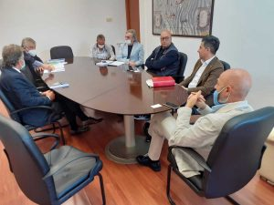 Civitavecchia - Il sindaco Tedesco riceve Agostinelli e De Santoli