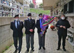 La delegazione Ansi Civitavecchia commemora Roberto Cuomo