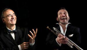 Il pianista Fabrizio Viti e il trombettista Luca Seccafieno