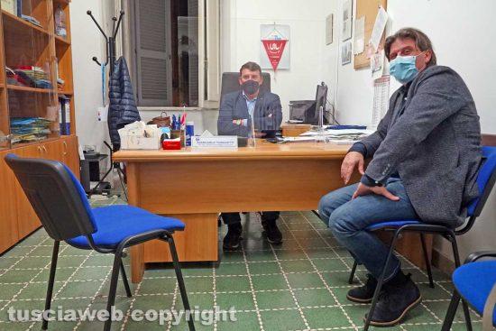 Viterbo - I sindacalisti della Uil Giancarlo Turchetti e Maurizio Bizzoni