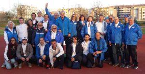Atletica - Il gruppo Giudici gara Viterbo col sindaco Arena