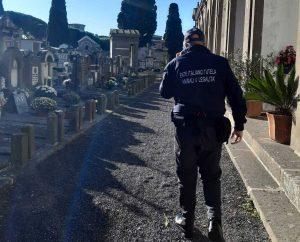 I controlli al cimitero di Tuscania