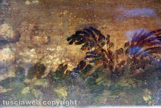 Viterbo - Museo civico - La Pietà di Sebastiano del Piombo - Particolare del sollevamento della pellicola pittorica