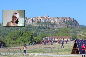 La Spartan race a Orte - Nel riquadro Giulia Zomegnan