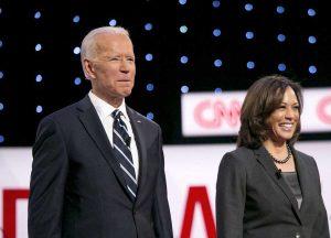 Joe Biden con Kamala Harris