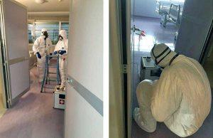Coronavirus - Sanificazione alla clinica Santa Teresa di Viterbo