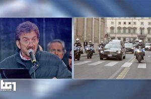 Roma - La diretta su Rai1 dei funerali di Gigi Proietti