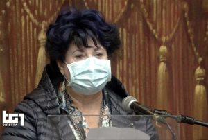 Roma - La diretta su Rai1 dei funerali di Gigi Proietti - Marisa Laurito