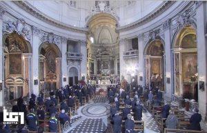 Roma - La diretta su Rai1 dei funerali di Gigi Proietti alla chiesa degli Artisti