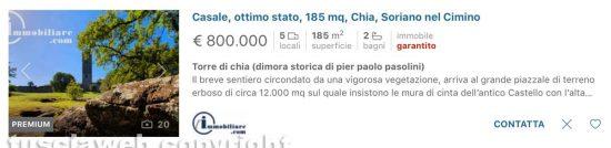 La torre di Pasolini in vendita su immobiliare.it