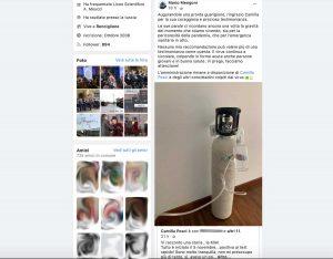 Il post di Mario Mengoni per condividere quello con la testimonianza di Camilla Pesci