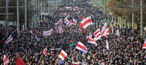 Minsk, proteste in Bielorussia