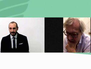 Raccolta differenziata - Vittorio Sgarbi in collegamento con la conferenza stampa