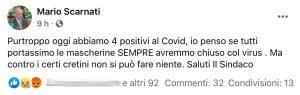 Fabrica di Roma - Il post del sindaco Mario Scarnati