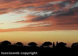 Il tramonto come in un dipinto