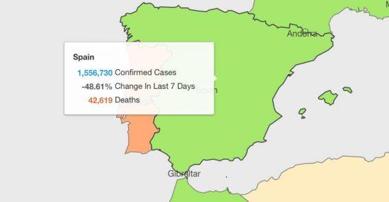 Dati Covid in Spagna - Oms