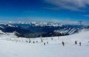 Una pista da sci