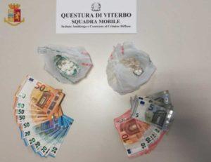 Viterbo - La droga sequestrata dalla squadra mobile
