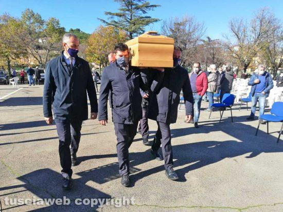 Villa San Giovanni in Tuscia - I funerali di Maurizio Cupelli