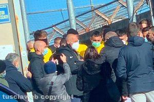Sport - Calcio - Viterbese - L'incontro tra squadra e tifosi