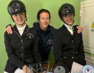 Sport - Ippica - Le atlete Sofia Pagliaro e Sofia Ferri con l'istruttrice Urszula Smolinska