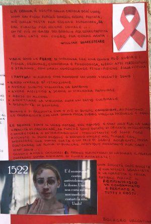Tarquinia - Un elaborato sulla Violenza di genere dell'istituto San Benedetto