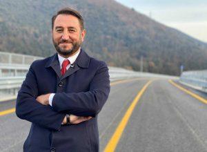 Terni - Giancarlo Cancellieri, viceministro alle Infrastrutture, in visita al cantiere ultimato della Terni-Rieti