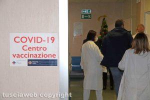 Viterbo - Il centro vaccinazione anti-Covid all'ospedale di Belcolle