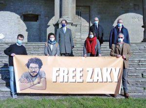 Il manifesto in sostegno a Patrick Zaky all'Unitus