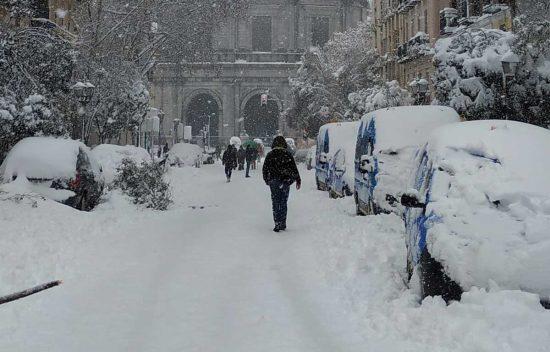 Neve a Madrid