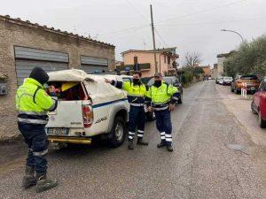 I volontari Aeopc di Castel Sant'Elia per l'emergenza neve nel Reatino
