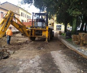 Civita Castellana - Lavori a piazza Marconi