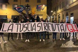 Viterbo - La manifestazione di Gioventù nazionale