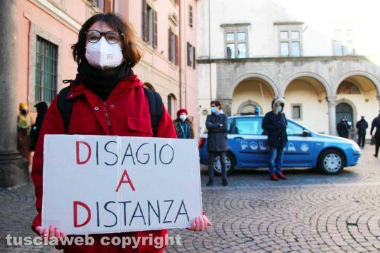Viterbo - Una manifestazione degli studenti