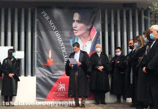 Stefano Brenciaglia all'inaugurazione del poster dedicato all'avvocatessa turca Ebru Timtikt