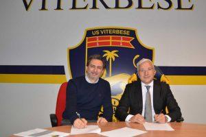 Sport - Calcio - Viterbese - La firma dell'accordo con l'Unitus