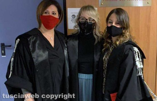 Tribunale - Da sinistra, Simona Mancini, Sabrina Morucci e Valentina Monti